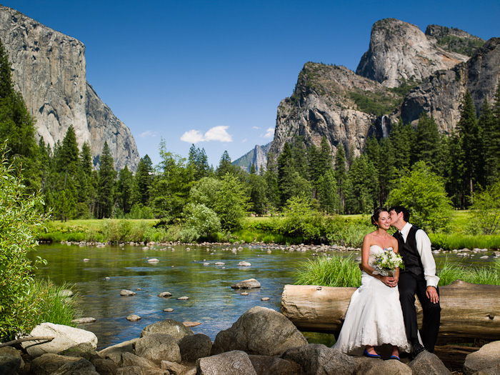 Destionation Yosemite Wedding At Valley View With Rachel And