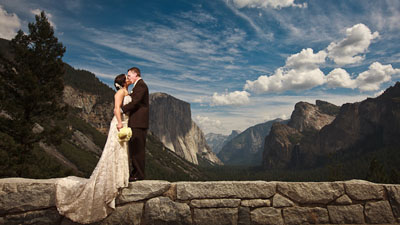 Yosemite wedding at Tunnel View in Yosemite