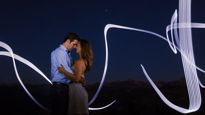 Yosemite Engagement under the stars
