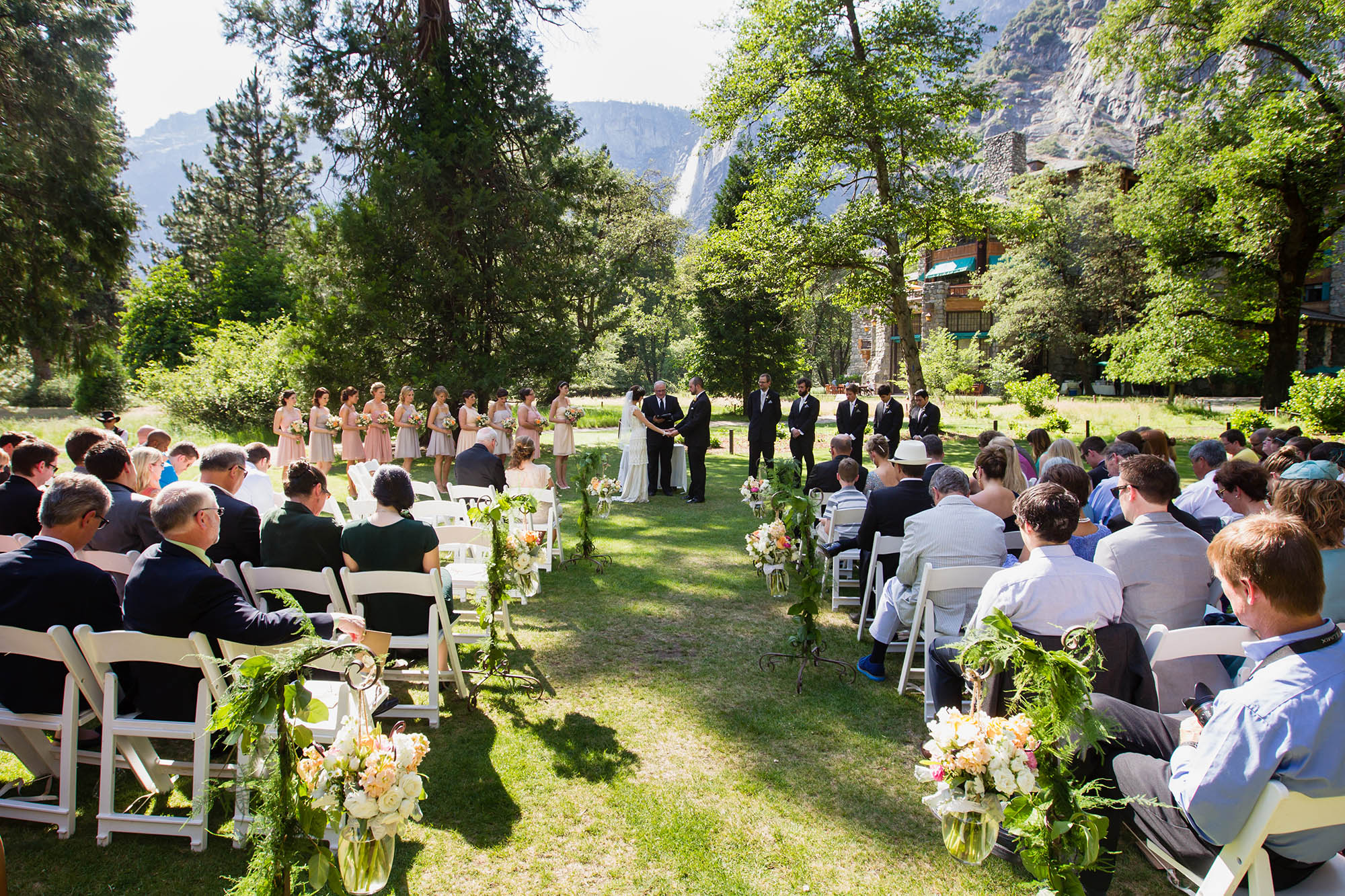Ahwahnee Wedding Lawn Patrick Pike