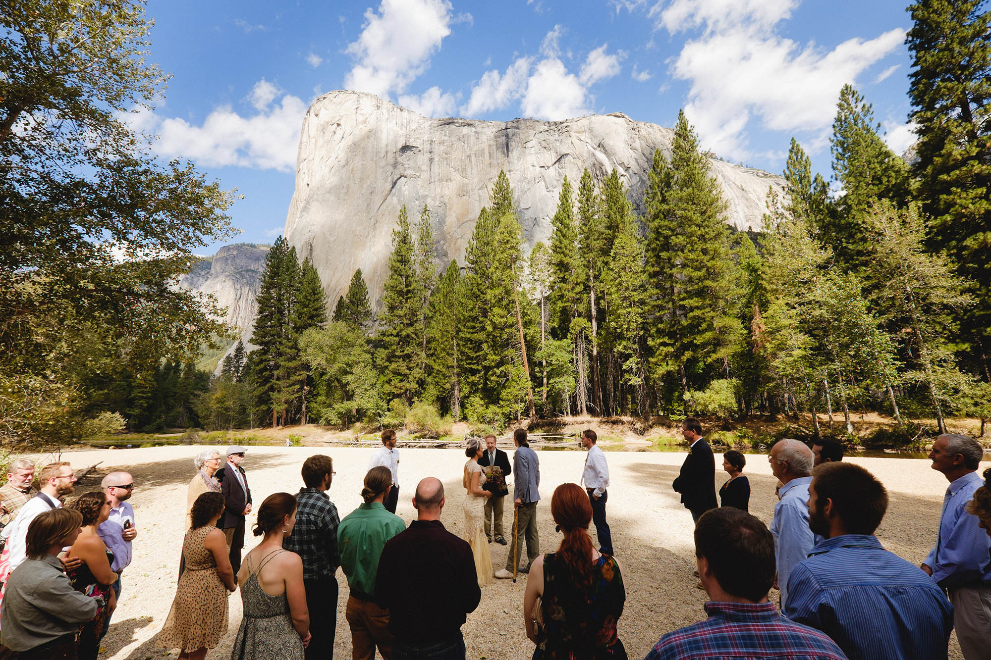 Large wedding at Cathedral Beach