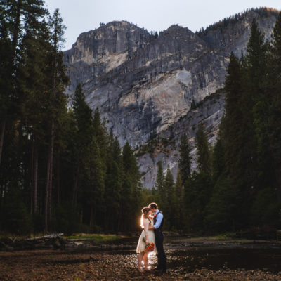 Yosemite Elopement in the River