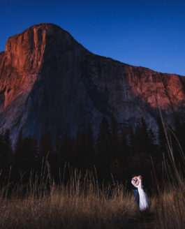 Basking in the El Capitan Alpenglow