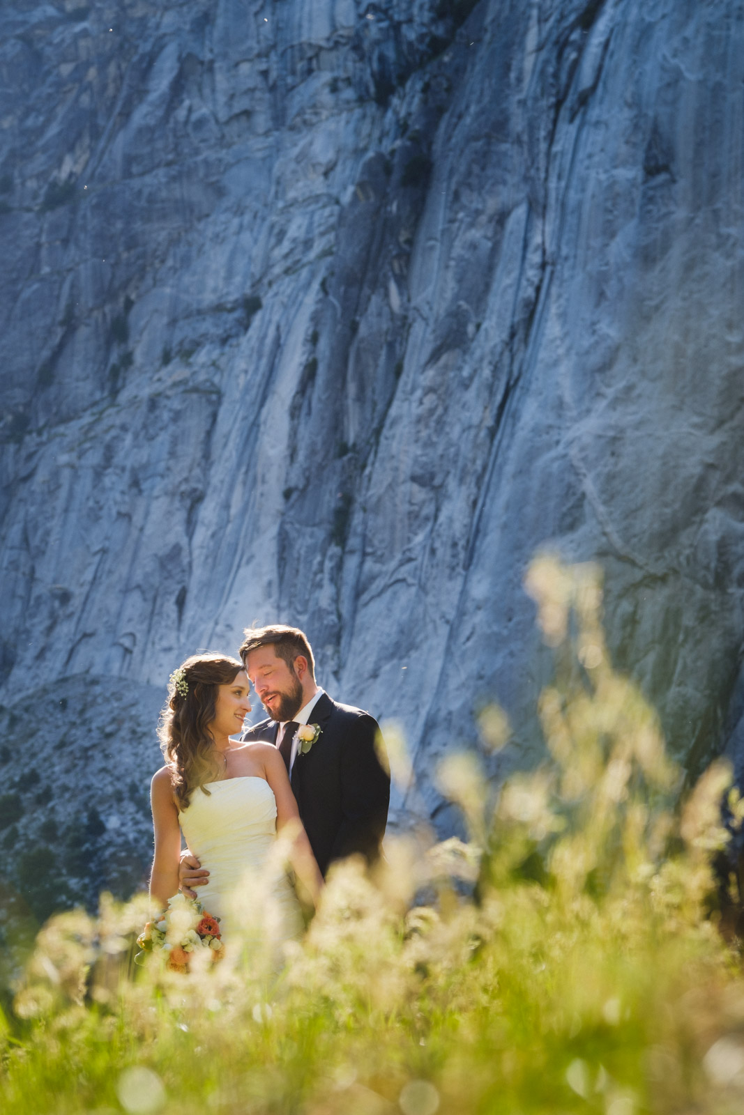 Yosemite Elopement in meadow