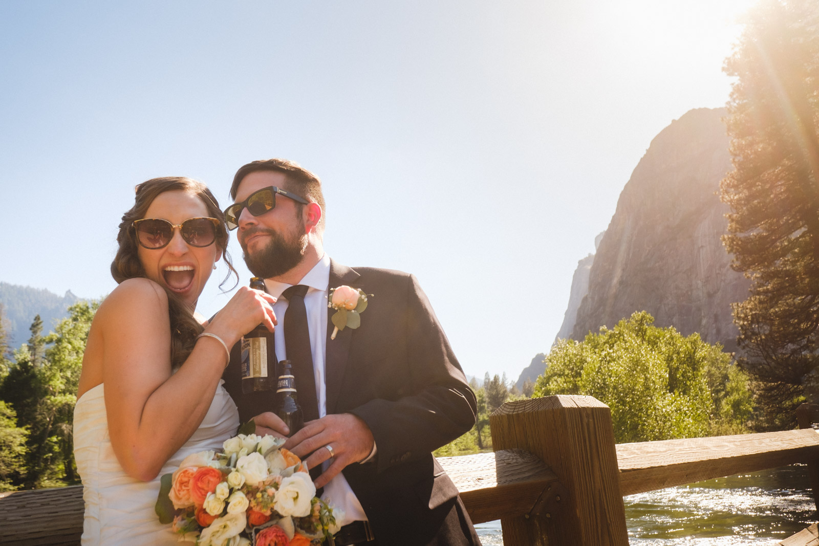 Yosemite Elopement with beer